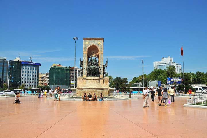 میدان تقسیم| مجسمه یادوارهی جمهوریت