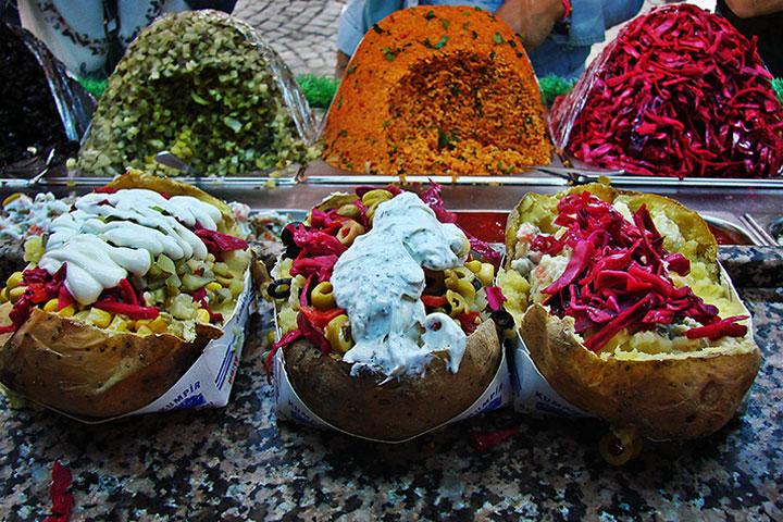 قیمت غذاهای خیابانی در استانبول - کومپیر