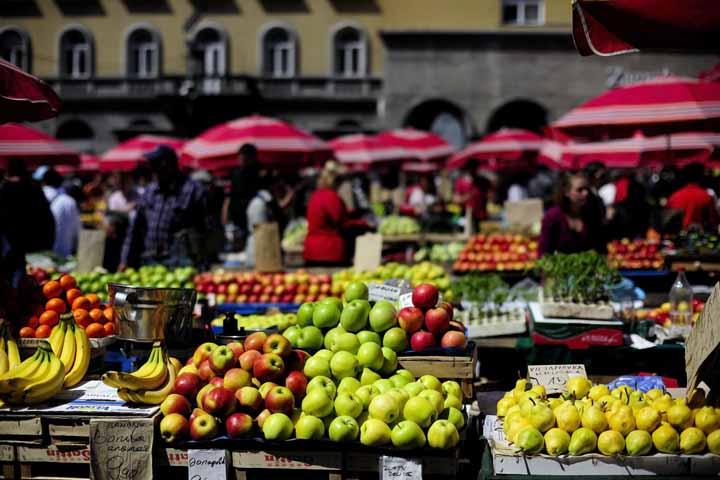 جاهای دیدنی کرواسی : بازارهای محلی زاگرب