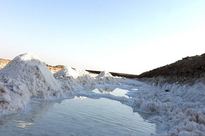 رودخانه نمک طبس دیدنی های طبس