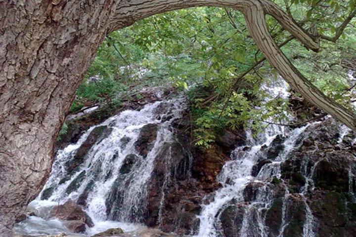 روستای ییلاقی آبشار بار | جاهای دیدنی نیشابور