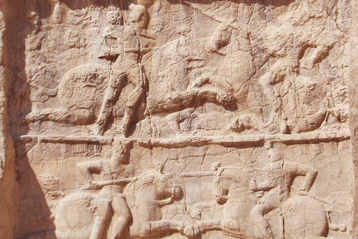پیروزی بهرام دوم  نقش رستم