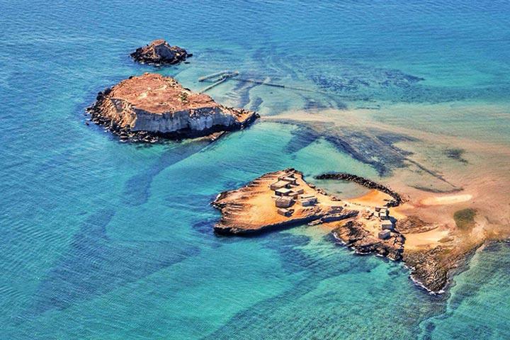 آرامش زندگی دریایی در جزیره هنگام