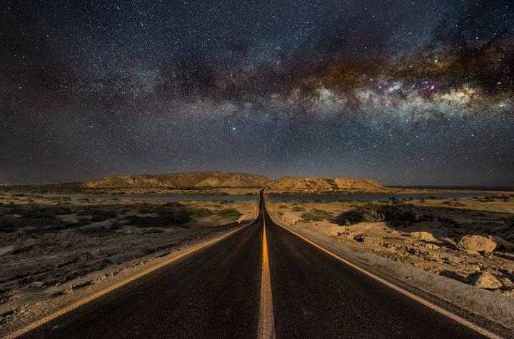 جادهای زیبا منتهی به تالاب لیپار