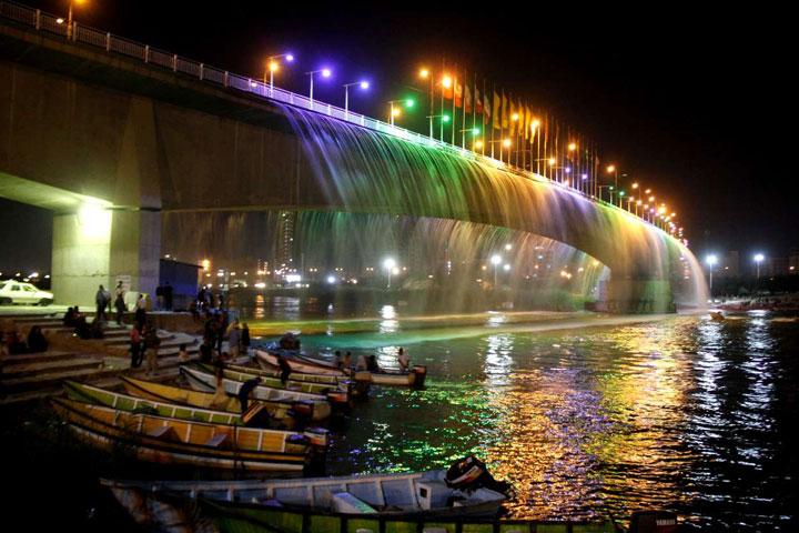 آبشار اهواز- عکس از ایرنا