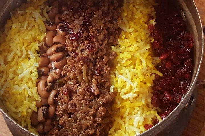 لوبیا پلوی شیرازی