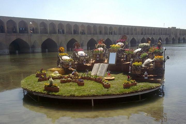 جشن نوروزی بر روی پل الله وردی خان
