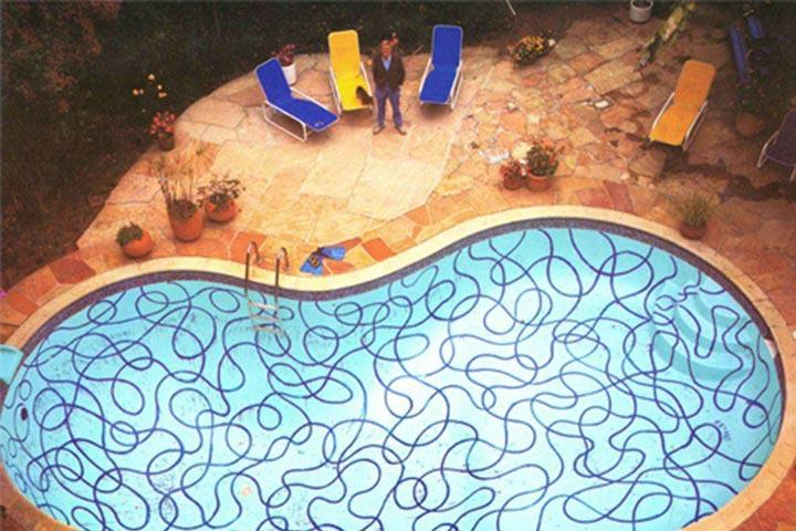 استخر در هتل هالیوود روزولت ۱۹۸۸ | نقاشی جاهای معروف جهان