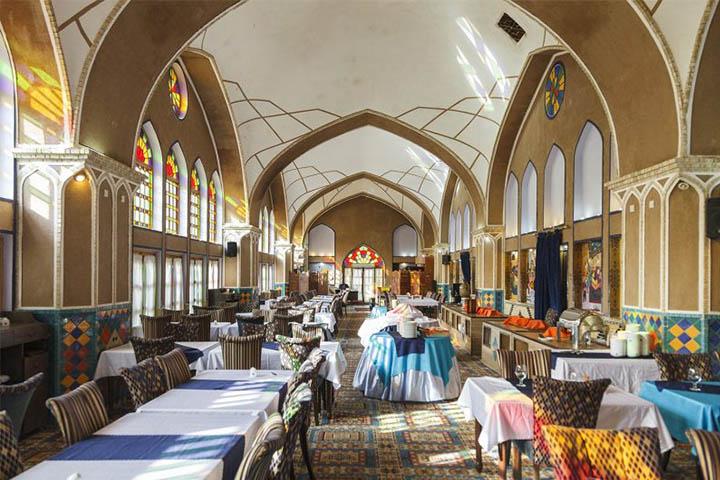 رستوران هتل مشیرالممالک یزد پ رستوران های یزد