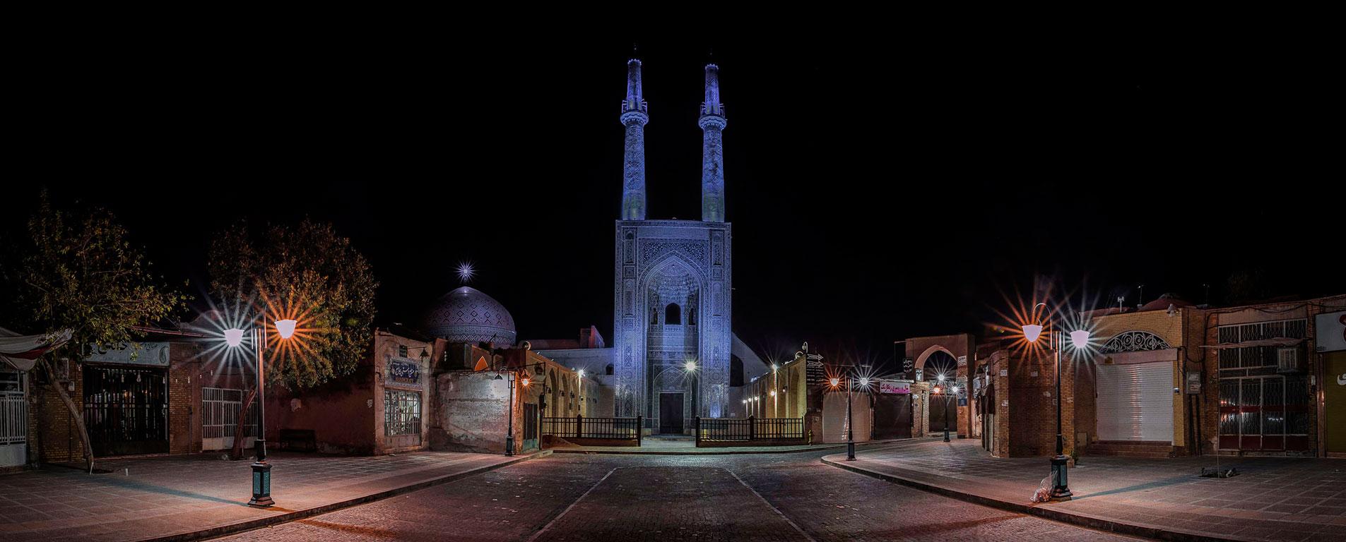 مسجد جامع یزد ، عبادتگاهی با بلندترین منارهی جهان