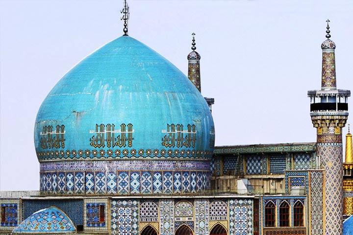 گنبد فیروزهای مسجد گوهرشاد