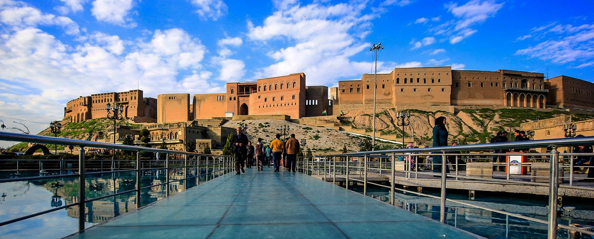 اربیل عراق ، شهری بر تپهای باستانی