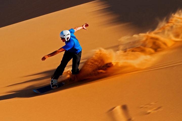 اسکی روی شن