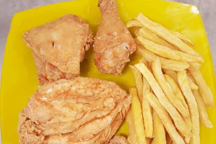 جوجه بروستد |غذاهای قزوین