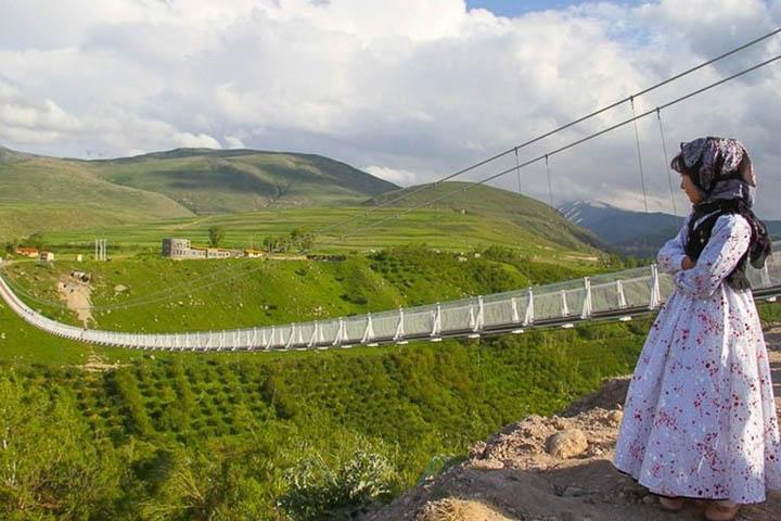 پل معلق مشکین شهر | مراکز تفریحی اردبیل
