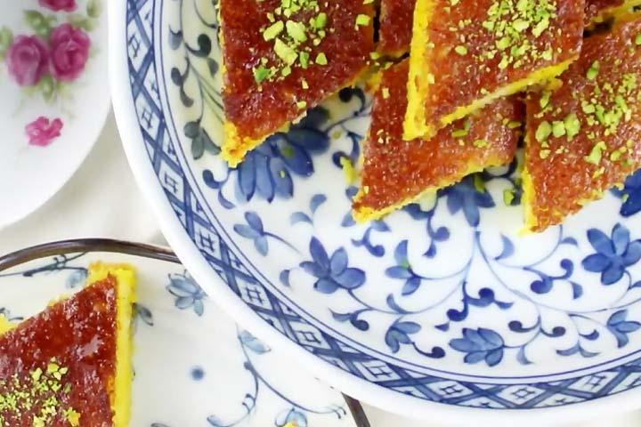 کیک شربتی | سوغات قزوین