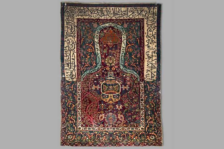 قالیچه سجاده ای پشمی تالار صفوی