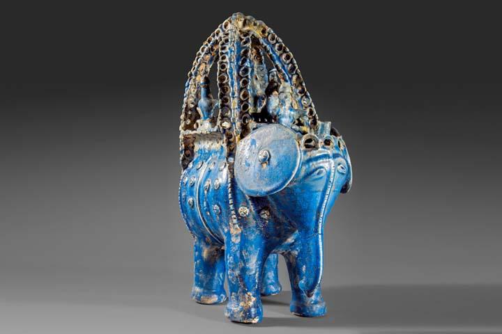 مجسمه سفالی فیل، تالار سلجوقی