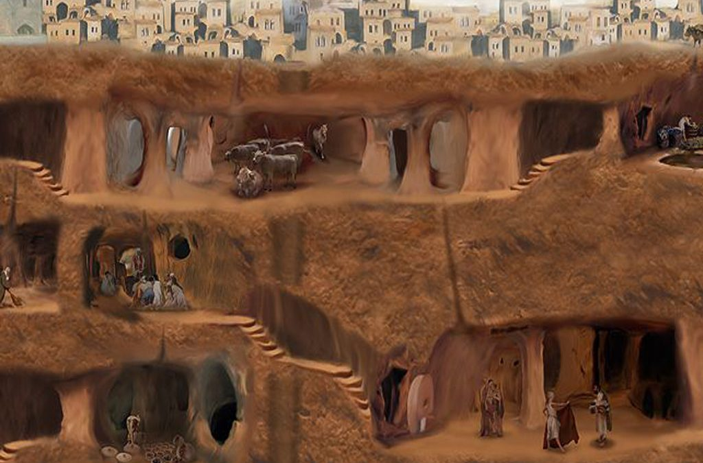 شهر زیرزمینی ترکیه ، به شگفتی و بزرگی اهرام ثلاثه مصر