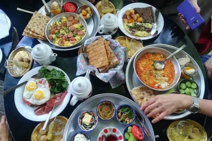 منو کافه چای بار تهران