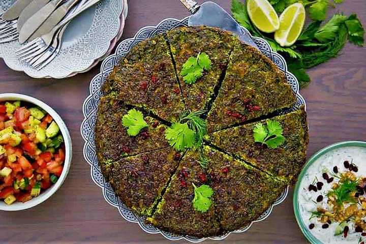 کوکو پاغازه | غذاهای کرمانشاه