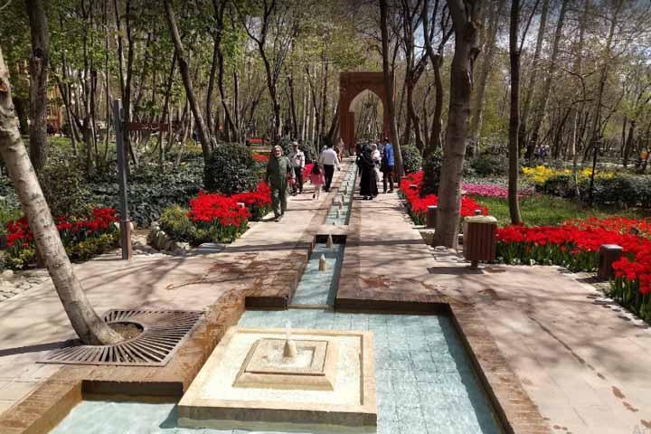 باغ ایرانی | جاهای دیدنی تهران در زمستان