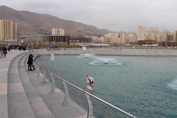 دریاچه مصنوعی خلیج فارس | جاهای دیدنی تهران در زمستان