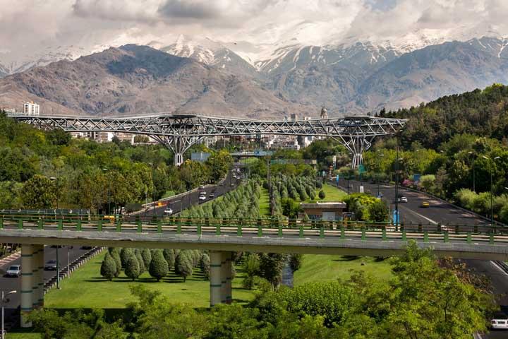 پل طبیعت | جاهای دیدنی تهران در زمستان